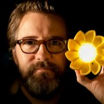 Artist-olafur-eliasson-with-his-new-design-the-little-sun