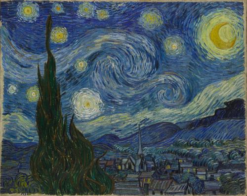 Vincent van Gogh (Dutch, 1853–1890), The Starry Night, Saint Rémy, June 1889. Oil on canvas