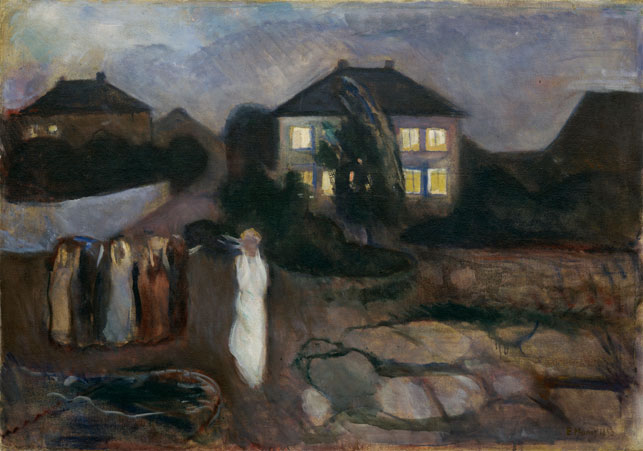 "1893. Oil on canvas, 36 1/8 x 51 1/2"" (91.8 x 130.8 cm). Gift of Mr. and Mrs. H. Irgens Larsen and acquired through the Lillie P. Bliss and Abby Aldrich Rockefeller Funds. © 2014 The Munch Museum/The Munch-Ellingsen Group/Artists Rights Society (ARS), New York"