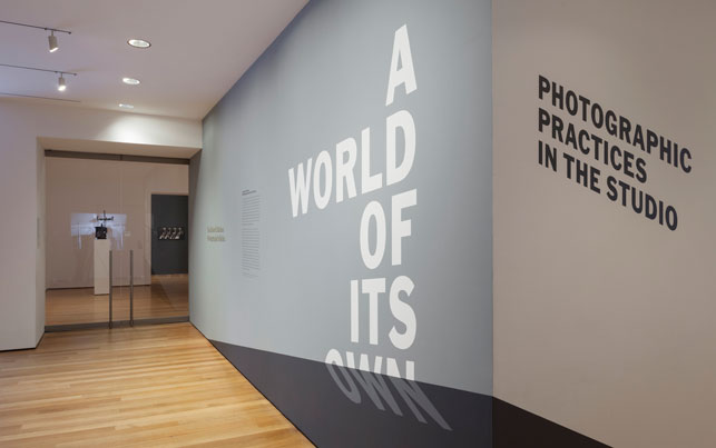 Installation view of <i>A World of Its Own: Photographic Practices in the Studio</i>, The Museum of Modern Art, February 8–October 5, 2014