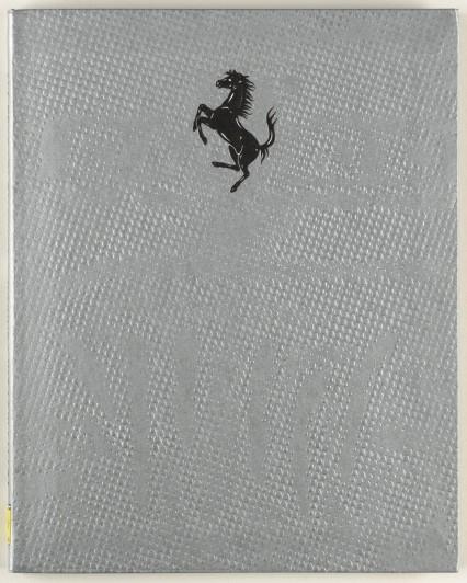"Irma Boom. Ferrari S.p.A.  Tutti i Motori Ferrari. 2002. Photo offset lithography, 9 11/16 x 7 3/4 x 3/8"" (24.6 x 19.7 x 1 cm). Gift of Irma Boom. Photo: Jonathan Musikar."