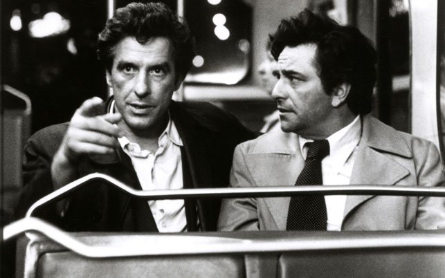 John Cassavetes (left) with Peter Falk in Mikey and Nicky. 1976. USA. Written and directed by Elaine May