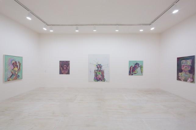 Installation view of Maria Lassnig at MoMA PS1, 2014. © 2014 MoMA PS1; Photo Matthew Septimus