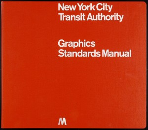 "Massimo Vignelli, Bob Noorda, Unimark International Corporation. New York Metropolitan Transit Authority Subway Transportation Graphic Program. 1966–70. Lithograph with screenprinted binder, 13 5/8 x 15 1/2 x 2 7/8"" (34.6 x 39.4 x 7.3 cm). Gift of the designer"