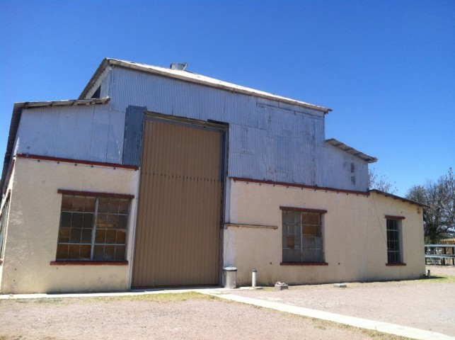 The former Marfa Ice Plant, site of Zoe Leonard's 100 North Neville Street