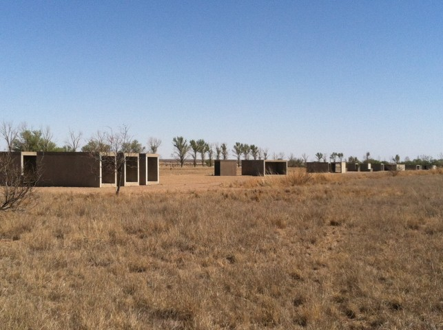 Donald Judd. 15 untitled works in concrete. 1980–1984. The Chinati Foundation, Marfa