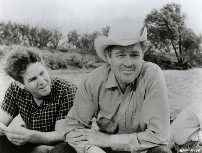 Timothy Bottoms and Ben Johnson in The Last Picture Show. 1971. USA. Directed by Peter Bogdanovich