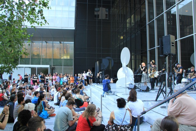 MoMA Nights performance featuring Ex Cops, July 4, 2013