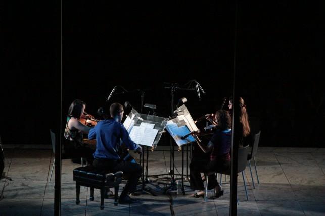 New Juilliard Ensemble string quartet. Photo: Ted Sullivan