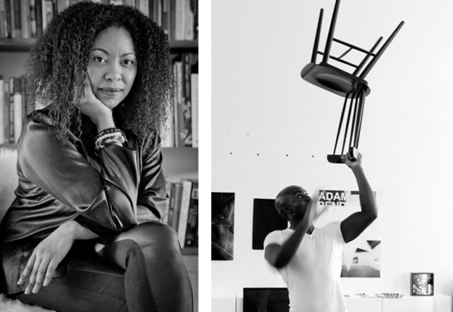 From left: Adrienne Edwards, 2013. Photo: Whitney Browne; Adam Pendleton, 2012. Photo: Paul Mpagi Sepuya. Courtesy Pace Gallery