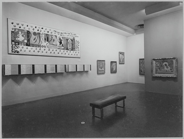 Installation view of the exhibition Henri Matisse, 1951-52. Photographic Archive. The Museum of Modern Art Archives, New York