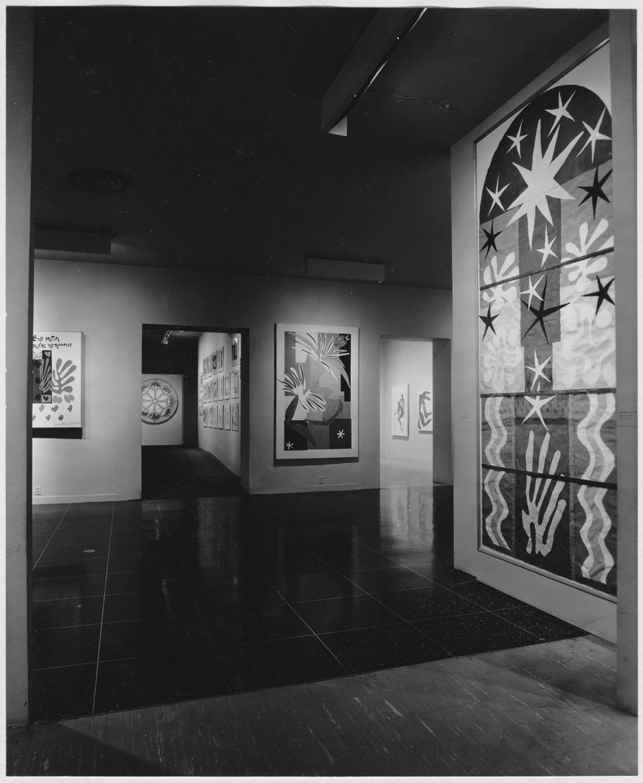 Installation view of the exhibition The Last Works of Matisse: Large Cut Gouaches, 1961. Photographic Archive. The Museum of Modern Art Archives, New York