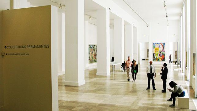 The permanent collection installation at the Musée d'Art Moderne de la Ville de Paris, Paris, 2014. Photo: Dimitra Nikoloù
