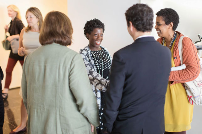 Thelma Golden (center), Director and Chief Curator, The Studio Museum in Harlem, at the Directors' Roundtable
