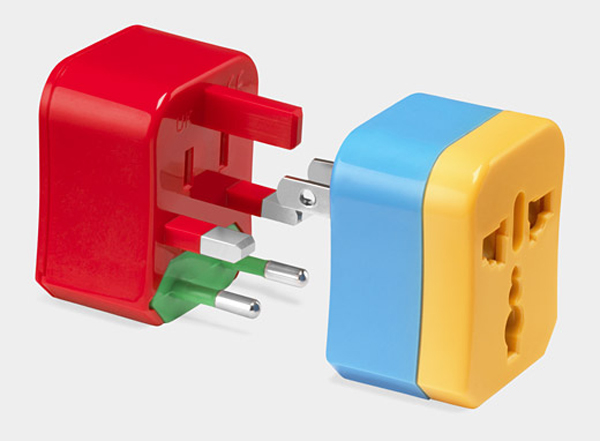 Travel Adapter Color Coded