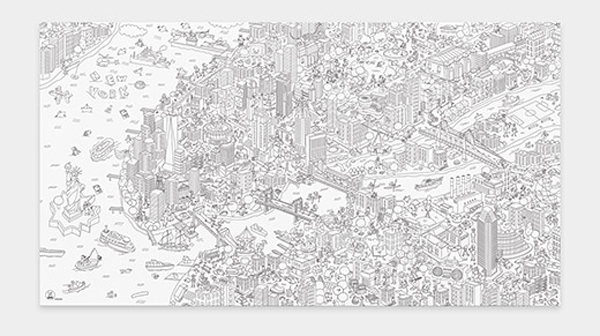 Coloring Poster NYC Giant
