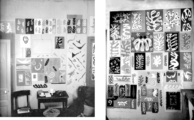 Matisse's studio wall at the Villa le Rêve, Vence, May 22, 1948. Photos: Michael Sima. © Rue des Archives/The Granger Collection