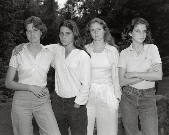 Nicholas Nixon. The Brown Sisters, New Canaan, Connecticut. 1975. The Museum of Modern Art, New York. Gift of the artist. © 2014 Nicholas Nixon