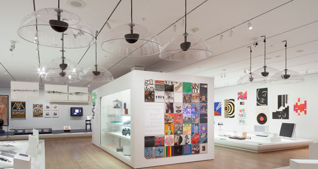 Installation view of Making Music Modern: Design for Ear and Eye, The Museum of Modern Art, November 15, 2014–November 1, 2015. Photo: John Wronn