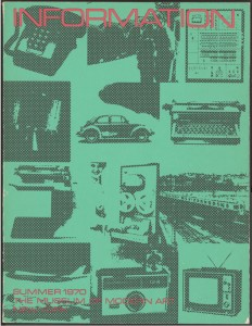 Exhibition catalogue cover of Information, edited by Kynaston L. McShine. 1970