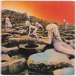 "Album cover for Led Zeppelin, Houses of the Holy. Hipgnosis. 1973. Lithograph, 12"" X 12"". Photo: John Wronn."