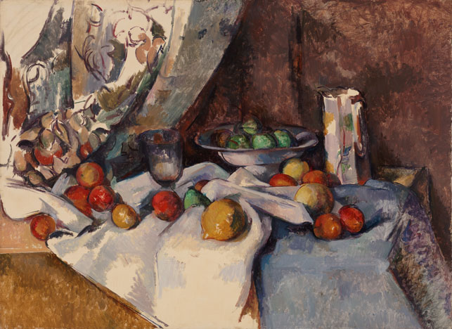 """Paul Cézanne (French, 1839–1906). Still Life with Apples. 1895–98. Oil on canvas, 27 x 36 1/2"""" (68.6 x 92.7 cm). Lillie P. Bliss Collection"""