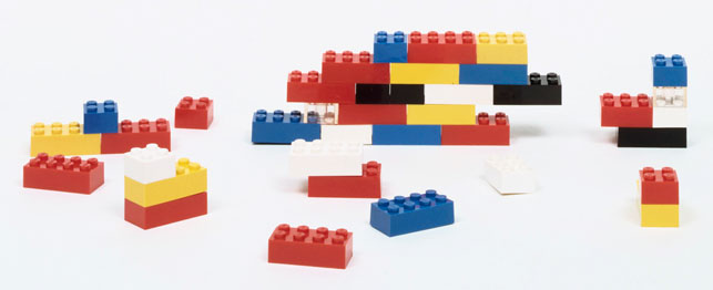 Godfried Kirk Christiansen, LEGO Group. LEGO building bricks. 1954–58. ABS plastic