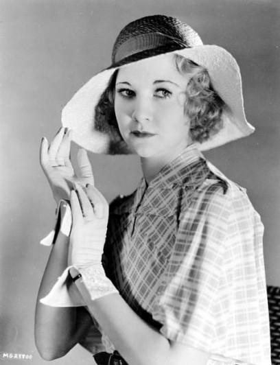Promotional photograph of Una Merkel. c. 1930s. Public domain image