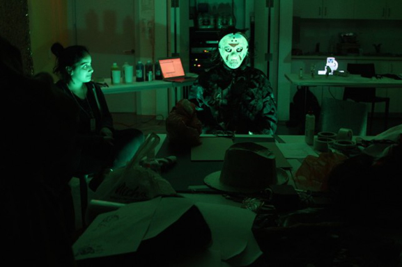 A visit from horror movie celebrity Jason Voorhees (artist Matt Roche) during I AM a God!