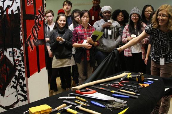 Revealing the destructive tools for the introductory sculpture project