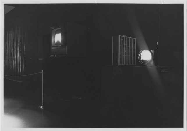 View of Nam June Paik's Lindsey Tapes, part of the exhibition Machine as Seen at the End of the Mechanical Age, November 27, 1968–February 9, 1969. Photo:  James Mathews. Photographic Archive. The Museum of Modern Art Archives, New York
