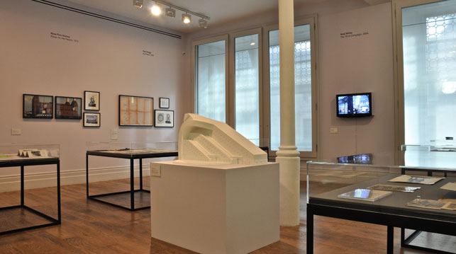 Installation view of the Sculptors Papers from the Henry Moore Institute Archive exhibition, Pat Matthews Gallery, Whitechapel Gallery, September 23, 2014–April 12, 2015. Courtesy Whitechapel Gallery, Whitechapel Gallery Archive