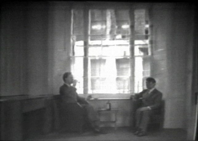Gilbert & George (Gilbert Proesch, George Passmore). Gordon's Makes us Drunk. 1972. Video (black and white, sound), 12 min. Gift of the artists. © 2015 Gilbert & George