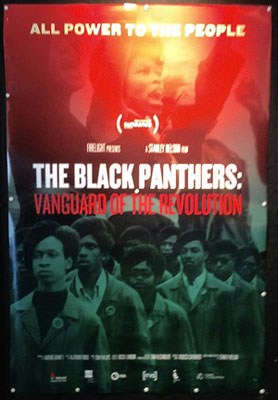 Poster for The Black Panthers: Vanguard of the Revolution at the 58th San Francisco International Film Festival. Photo: Kerri Kearse