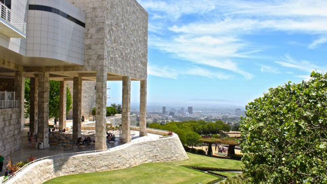 The view from The Getty, Los Angeles. Photo: Kerri Kearse