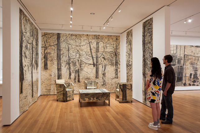 Installation view of Gilbert & George: The Early Years, The Museum of Modern Art, May 9–September 27, 2015. © 2015 The Museum of Modern Art. Photo: Jonathan Muzikar