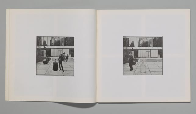 "Spreads from Museum Of Modern (F)art. 1971. Exhibition catalogue, offset, 11 13/16 x 11 13/16"" (30 x 30 cm). The Museum of Modern Art Library, New York. © Yoko Ono 2015"