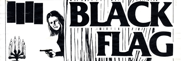 Raymond Pettibon, flyer for Black Flag show