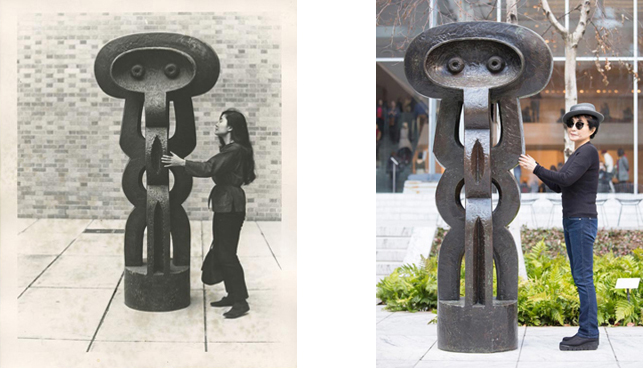 Left Yoko Ono With Figure 1926 30 By Jacques Lipchitz The
