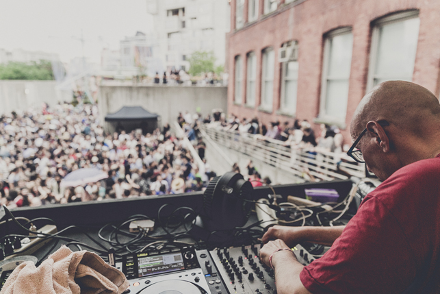 Nicky Siano, MoMA PS1 Warm Up, Saturday, July 4, 2015. Photo: Charles Roussel