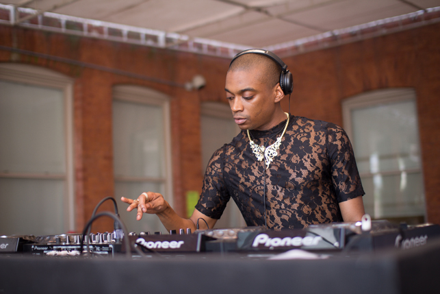 Lotic, MoMA PS1 Warm Up, Saturday, July 18, 2015. Photo: Mark Cole