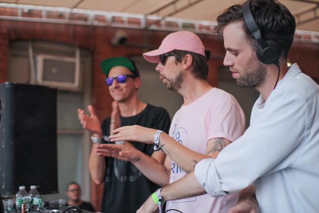 Boys Noize, Busy P, Boston Bun, MoMA PS1 Warm Up, Saturday, July 18, 2015. Photo: Mark Cole