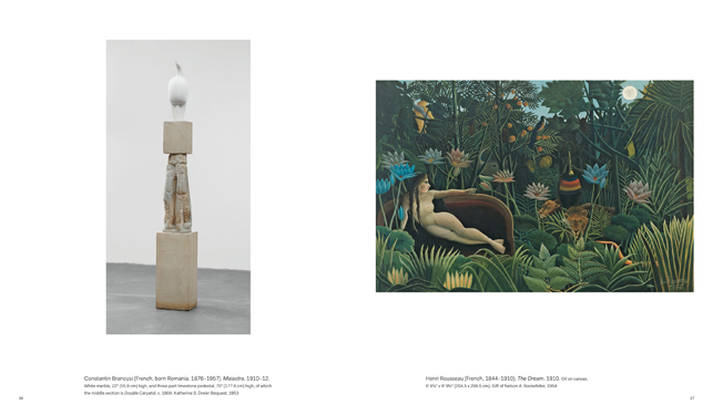 A spread from Painting and Sculpture at The Museum of Modern Art