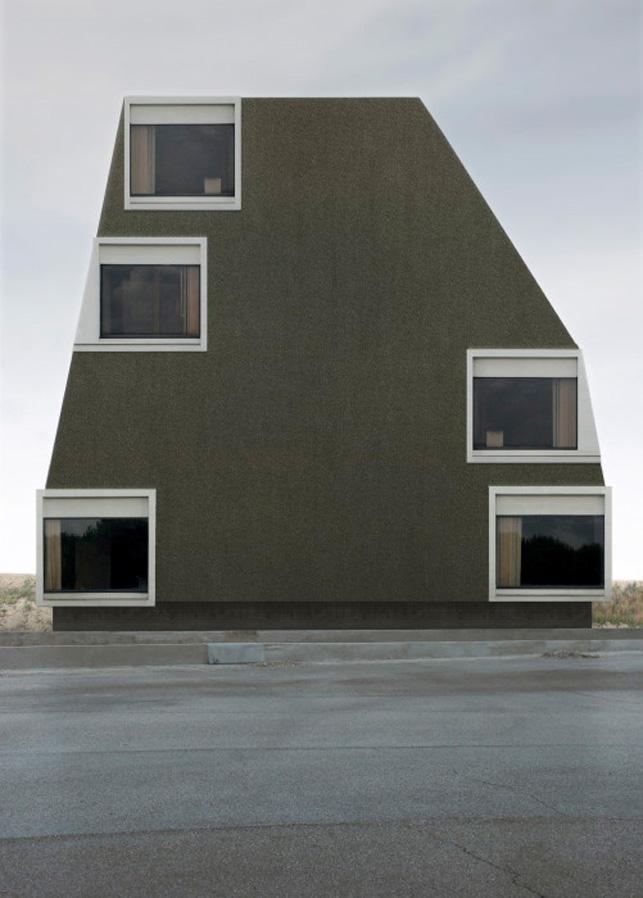 "Philipp Schaerer. Bildbau No. 05a  from the series Bildbauten.  2007. Chromogenic color print on aluminum, 27 9/16 x 19 11/16"" (70 x 50 cm). The Museum of Modern Art, New York. Committee on Architecture and Design Funds. © Philipp Schaerer, Zurich/CH"
