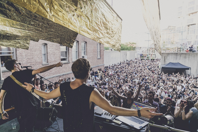 Bob Moses, MoMA PS1 Warm Up, Saturday, August 1, 2015. Photo: Charles Roussel