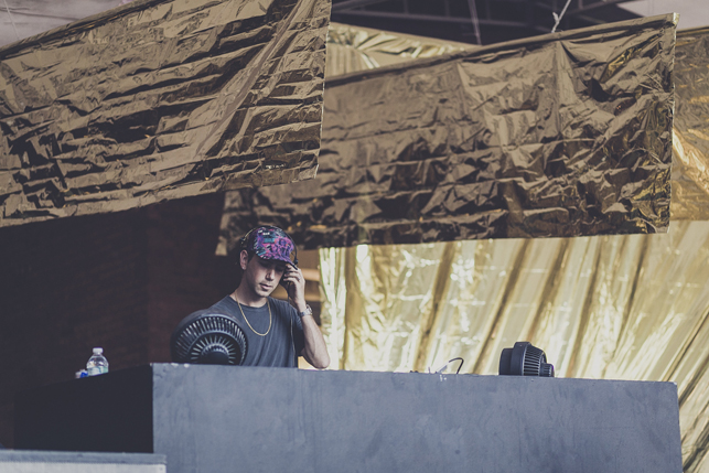 Tiga, MoMA PS1 Warm Up, Saturday, August 1, 2015. Photo: Charles Roussel