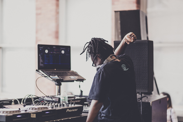 Jlin, MoMA PS1 Warm Up, Saturday, August 8, 2015. Photo: Charles Roussel