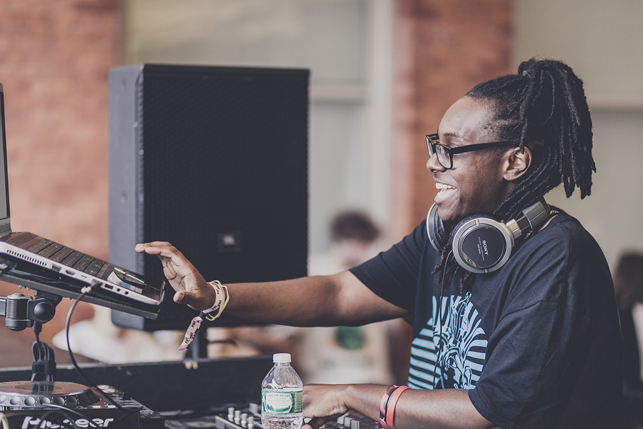 Jlin, MoMA PS1 Warm Up, Saturday, August 8, 2015. Photo Charles Roussel