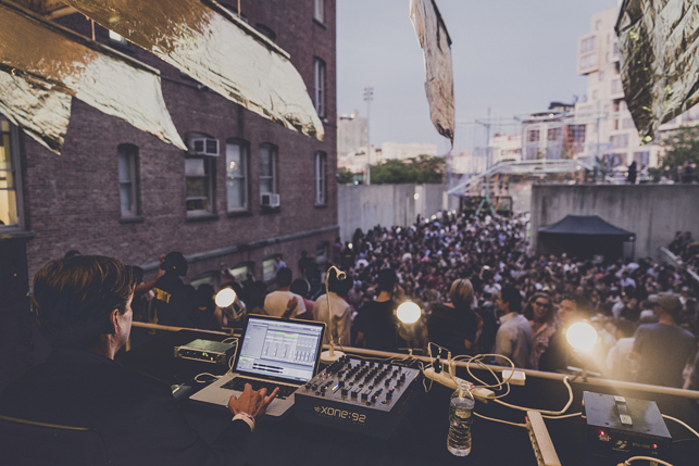 Moritz von Oswald, MoMA PS1 Warm Up, Saturday, August 8, 2015. Photo Charles Roussel
