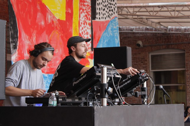 Hashman Deejay b2b Pender Street Steppers, MoMA PS1 Warm Up, Saturday, August 22, 2015. Photo: Mark Cole